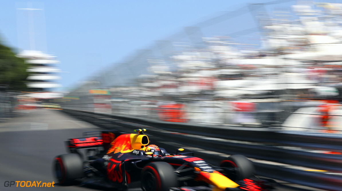MONTE-CARLO, MONACO - MAY 28: Max Verstappen of the Netherlands driving the (33) Red Bull Racing Red Bull-TAG Heuer RB13 TAG Heuer on track during the Monaco Formula One Grand Prix at Circuit de Monaco on May 28, 2017 in Monte-Carlo, Monaco.  (Photo by Mark Thompson/Getty Images) // Getty Images / Red Bull Content Pool  // P-20170528-00548 // Usage for editorial use only // Please go to www.redbullcontentpool.com for further information. //  F1 Grand Prix of Monaco Mark Thompson Monte-Carlo (City) Monaco  P-20170528-00548