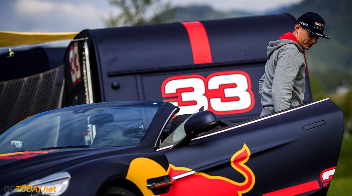 Max Verstappen seen prior the caravan race against Daniel Ricciardo in Spielberg, Austria on May 17, 2017 // Samo Vidic/Red Bull Content Pool // P-20170522-02027 // Usage for editorial use only // Please go to www.redbullcontentpool.com for further information. //  Max Verstappen  Spielberg Bei Knittelfeld Austria  P-20170522-02027