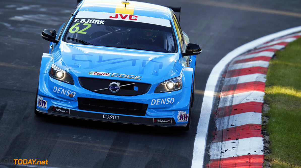 62 BJORK Thed (swe), Volvo S60 Polestar team Polestar Cyan Racing, action during the 2017 FIA WTCC World Touring Car Race of Nurburgring, Germany from May 26 to 28 - Photo Clement Marin / DPPI AUTO - WTCC NURBURGING 2017 Clement Marin Nurburg Allemagne  allemagne auto championnat du monde circuit course europe fia motorsport tourisme wtcc