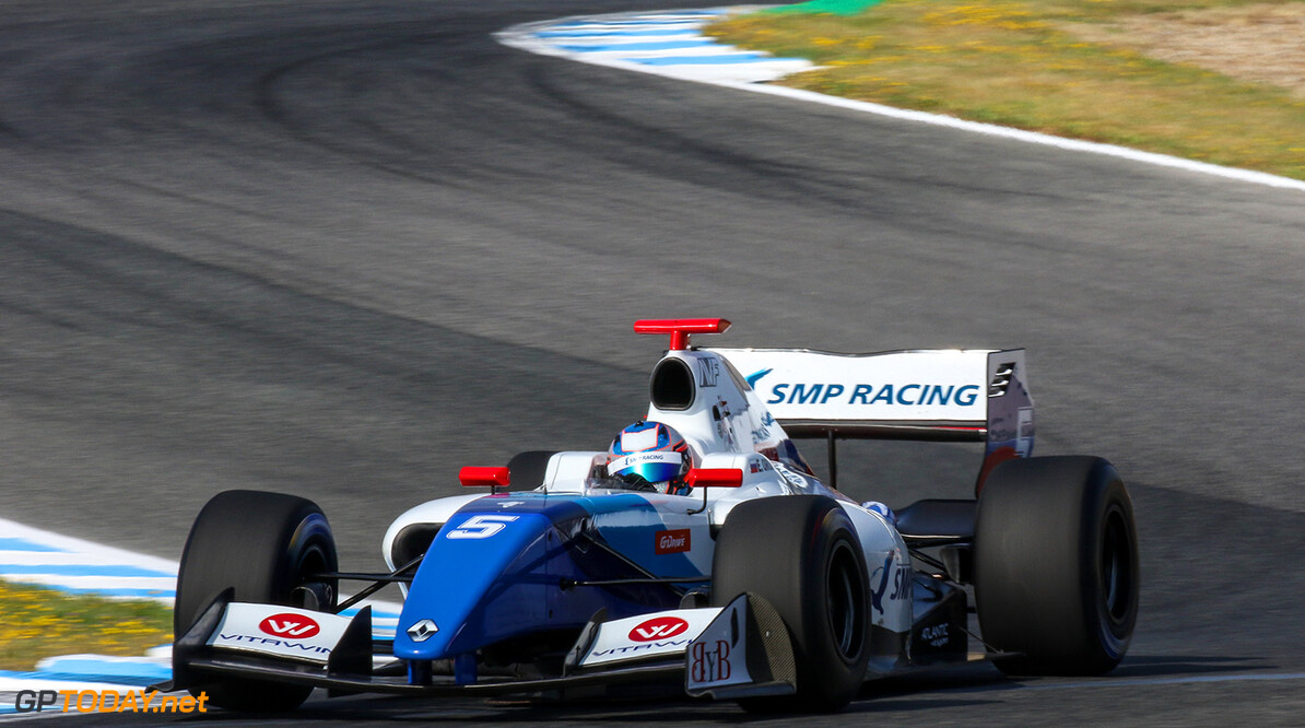 JEREZ (ESP) MAY 26-28 2017 - 4th round of the Worldseries Formula V8 3.5 at circuito de Jerez. Egor Orudzhev #05 SMP Racing by AVF. Action. (C) 2017 Klaas Norg  / Dutch Photo Agency JEREZ RACING FORMULA V8 2017     Auto Autosport Car Formula Jerez Michelin Motorsports Race Racing Renault Spain Track World Series