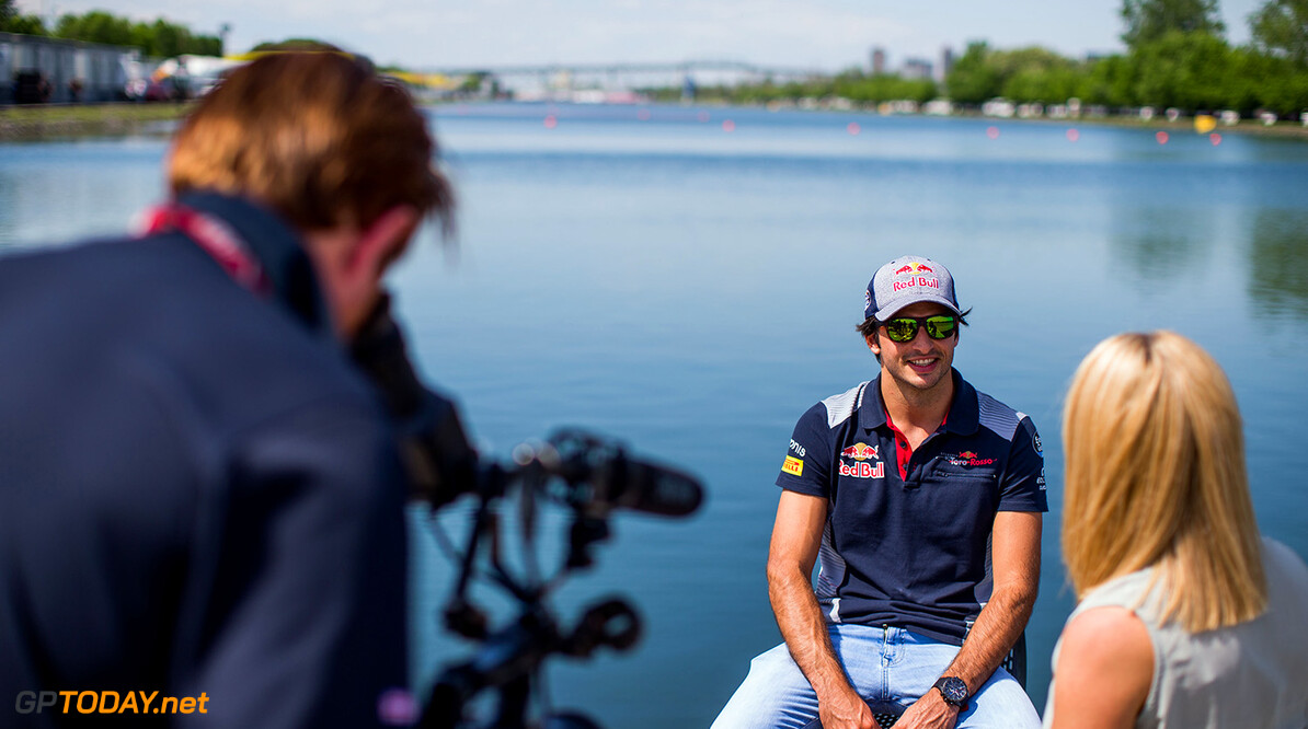 MONTREAL, QC - JUNE 08:  Carlos Sainz of Scuderia Toro Rosso and Spain during previews for the Canadian Formula One Grand Prix at Circuit Gilles Villeneuve on June 8, 2017 in Montreal, Canada.  (Photo by Peter Fox/Getty Images) // Getty Images / Red Bull Content Pool  // P-20170608-01696 // Usage for editorial use only // Please go to www.redbullcontentpool.com for further information. //  Canadian F1 Grand Prix - Previews Peter Fox Montreal (City) Canada  P-20170608-01696