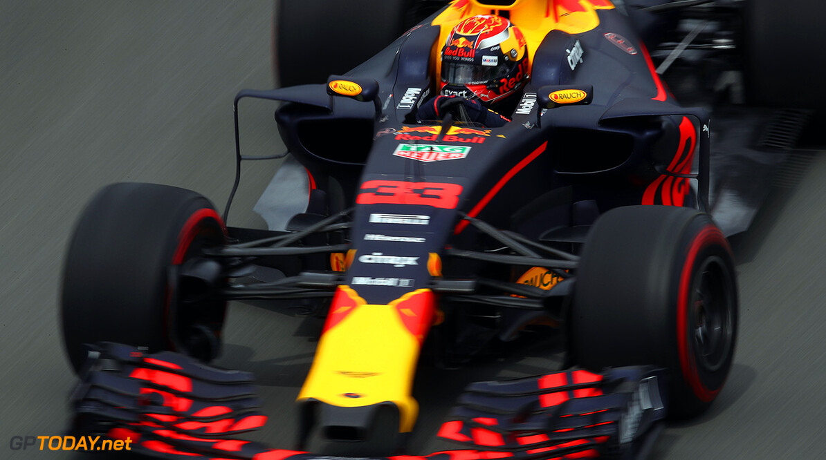 MONTREAL, QC - JUNE 09: Max Verstappen of the Netherlands driving the (33) Red Bull Racing Red Bull-TAG Heuer RB13 TAG Heuer on track during practice for the Canadian Formula One Grand Prix at Circuit Gilles Villeneuve on June 9, 2017 in Montreal, Canada.  (Photo by Clive Mason/Getty Images) // Getty Images / Red Bull Content Pool  // P-20170609-02618 // Usage for editorial use only // Please go to www.redbullcontentpool.com for further information. //  Canadian F1 Grand Prix - Practice Clive Mason  Canada  P-20170609-02618