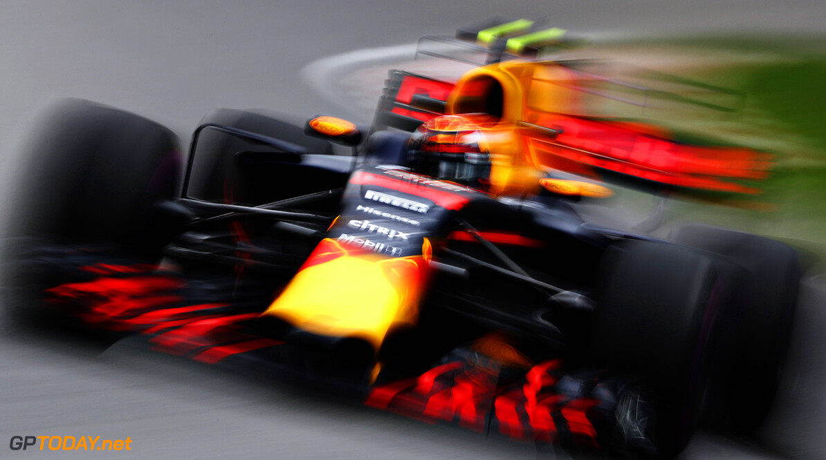 MONTREAL, QC - JUNE 09: Max Verstappen of the Netherlands driving the (33) Red Bull Racing Red Bull-TAG Heuer RB13 TAG Heuer on track during practice for the Canadian Formula One Grand Prix at Circuit Gilles Villeneuve on June 9, 2017 in Montreal, Canada.  (Photo by Mark Thompson/Getty Images) // Getty Images / Red Bull Content Pool  // P-20170609-02380 // Usage for editorial use only // Please go to www.redbullcontentpool.com for further information. //  Canadian F1 Grand Prix - Practice Mark Thompson  Canada  P-20170609-02380