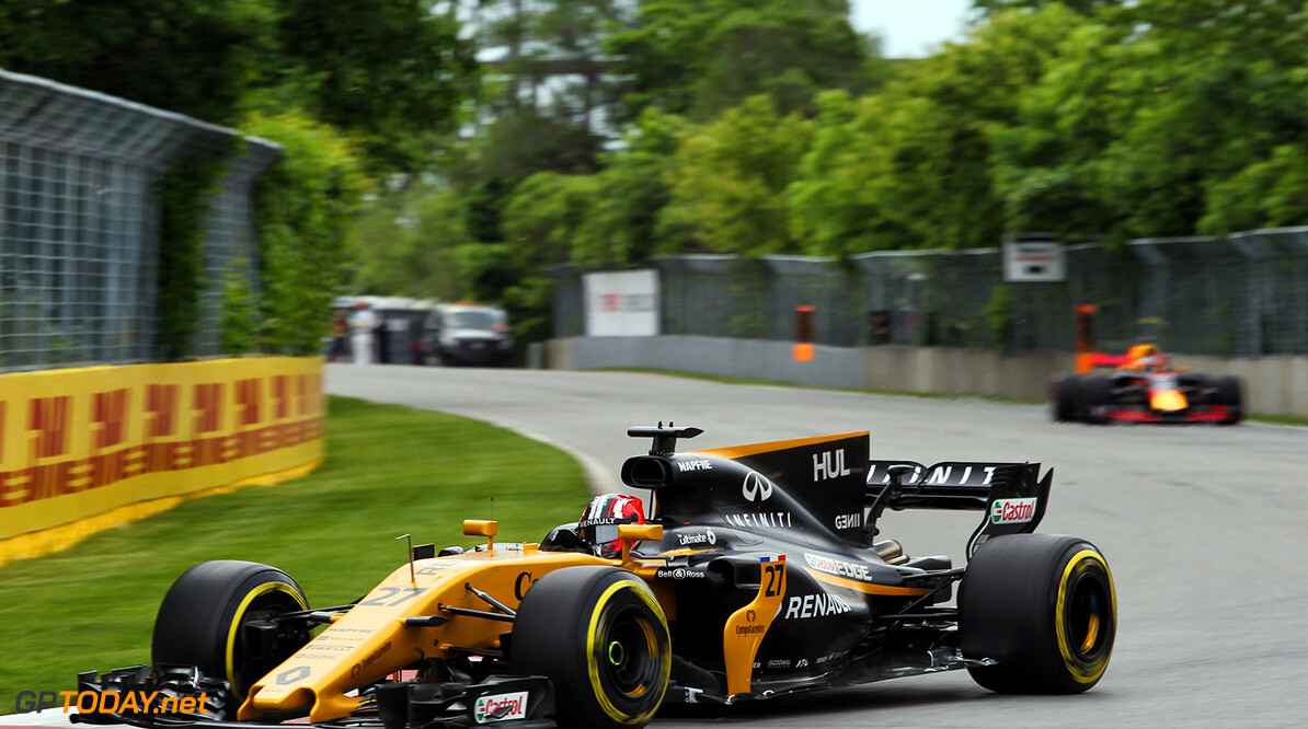 Formula One World Championship Nico Hulkenberg (GER) Renault Sport F1 Team RS17. Canadian Grand Prix, Friday 9th June 2017. Montreal, Canada. Motor Racing - Formula One World Championship - Canadian Grand Prix - Practice Day - Montreal, Canada Renault Sport Formula One Team Montreal Canada  Formula One Formula 1 F1 GP Grand Prix Canada Canadian Montreal Ille Notre Dame Circuit JM717 Hulkenberg H?lkenberg Huelkenberg Action Track GP1707b