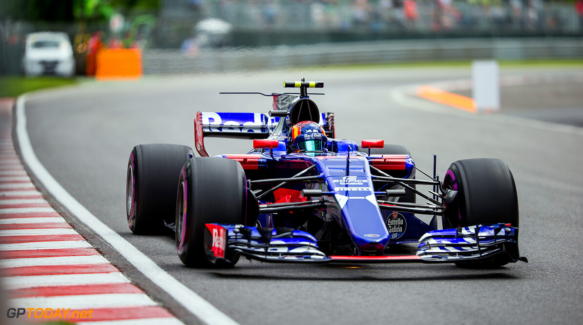 MONTREAL, QC - JUNE 09:  Carlos Sainz of Scuderia Toro Rosso and Spain during practice for the Canadian Formula One Grand Prix at Circuit Gilles Villeneuve on June 9, 2017 in Montreal, Canada.  (Photo by Peter Fox/Getty Images) // Getty Images / Red Bull Content Pool  // P-20170609-02626 // Usage for editorial use only // Please go to www.redbullcontentpool.com for further information. //  Canadian F1 Grand Prix - Practice Peter Fox Montreal (City) Canada  P-20170609-02626