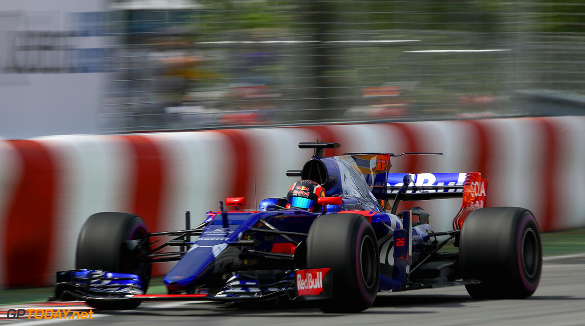 MONTREAL, QC - JUNE 09: Daniil Kvyat of Russia driving the (26) Scuderia Toro Rosso STR12 on track during practice for the Canadian Formula One Grand Prix at Circuit Gilles Villeneuve on June 9, 2017 in Montreal, Canada.  (Photo by Clive Mason/Getty Images) // Getty Images / Red Bull Content Pool  // P-20170609-02612 // Usage for editorial use only // Please go to www.redbullcontentpool.com for further information. //  Canadian F1 Grand Prix - Practice Clive Mason Montreal (City) Canada  P-20170609-02612