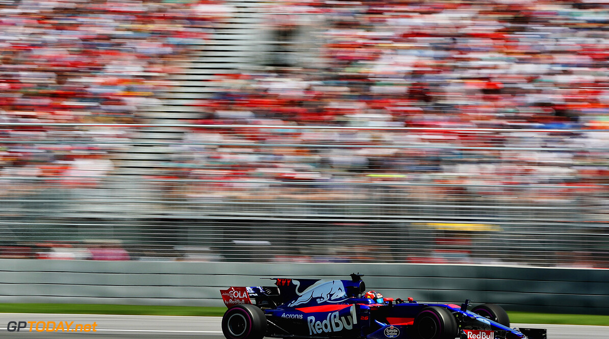 MONTREAL, QC - JUNE 11: Daniil Kvyat of Russia driving the (26) Scuderia Toro Rosso STR12 on track during the Canadian Formula One Grand Prix at Circuit Gilles Villeneuve on June 11, 2017 in Montreal, Canada.  (Photo by Mark Thompson/Getty Images) // Getty Images / Red Bull Content Pool  // P-20170611-02123 // Usage for editorial use only // Please go to www.redbullcontentpool.com for further information. //  Canadian F1 Grand Prix Mark Thompson Montreal (City) Canada  P-20170611-02123