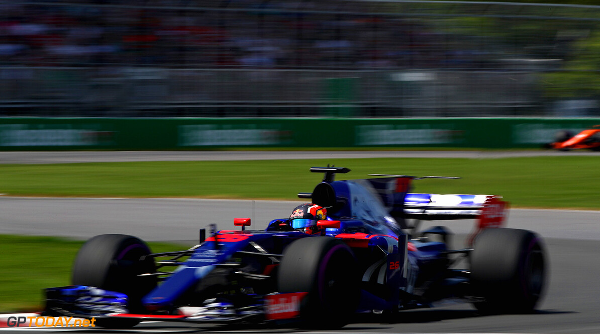MONTREAL, QC - JUNE 11: Daniil Kvyat of Russia driving the (26) Scuderia Toro Rosso STR12 on track during the Canadian Formula One Grand Prix at Circuit Gilles Villeneuve on June 11, 2017 in Montreal, Canada.  (Photo by Clive Mason/Getty Images) // Getty Images / Red Bull Content Pool  // P-20170611-01725 // Usage for editorial use only // Please go to www.redbullcontentpool.com for further information. //  Canadian F1 Grand Prix Clive Mason Montreal (City) Canada  P-20170611-01725