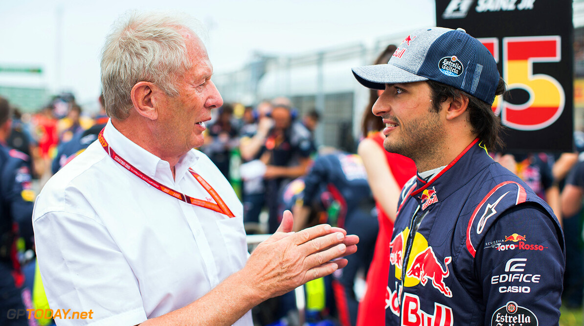 MONTREAL, QC - JUNE 11: Helmut Marco and Carlos Sainz of Scuderia Toro Rosso and Spain  during the Canadian Formula One Grand Prix at Circuit Gilles Villeneuve on June 11, 2017 in Montreal, Canada.  (Photo by Peter Fox/Getty Images) // Getty Images / Red Bull Content Pool  // P-20170611-02027 // Usage for editorial use only // Please go to www.redbullcontentpool.com for further information. //  Canadian F1 Grand Prix Peter Fox Montreal (City) Canada  P-20170611-02027
