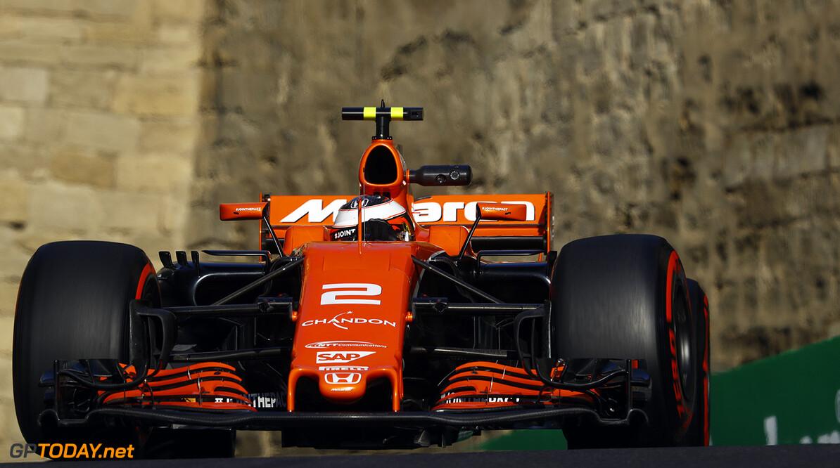 Baku City Circuit, Baku, Azerbaijan. Friday 23 June 2017. Stoffel Vandoorne, McLaren MCL32 Honda. Photo: Steven Tee/McLaren ref: Digital Image _O3I1253  Steven Tee    f1 formula 1 formula one gp grand prix Action