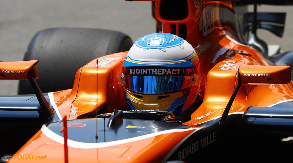 Baku City Circuit, Baku, Azerbaijan. Friday 23 June 2017. Fernando Alonso, McLaren. Photo: Steven Tee/McLaren ref: Digital Image _R3I2152  Steven Tee    f1 formula 1 formula one gp grand prix Portrait Helmets