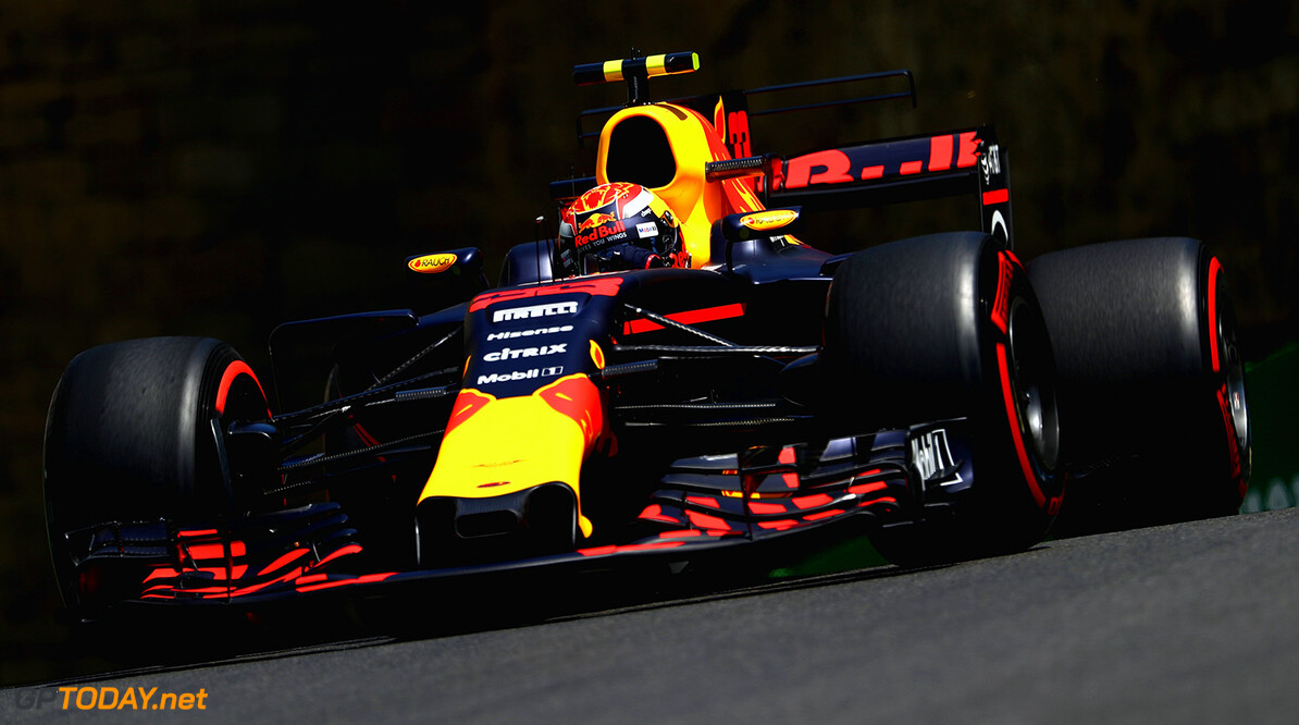 BAKU, AZERBAIJAN - JUNE 23: Max Verstappen of the Netherlands driving the (33) Red Bull Racing Red Bull-TAG Heuer RB13 TAG Heuer on track during practice for the Azerbaijan Formula One Grand Prix at Baku City Circuit on June 23, 2017 in Baku, Azerbaijan.  (Photo by Clive Rose/Getty Images) // Getty Images / Red Bull Content Pool  // P-20170623-01125 // Usage for editorial use only // Please go to www.redbullcontentpool.com for further information. //  Azerbaijan  F1 Grand Prix - Practice Clive Rose Baku Azerbaijan  P-20170623-01125