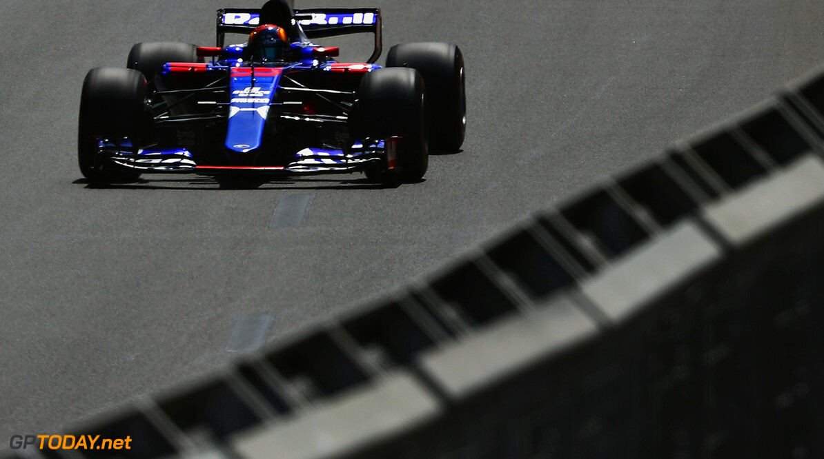 BAKU, AZERBAIJAN - JUNE 23: Carlos Sainz of Spain driving the (55) Scuderia Toro Rosso STR12 on track during practice for the Azerbaijan Formula One Grand Prix at Baku City Circuit on June 23, 2017 in Baku, Azerbaijan.  (Photo by Mark Thompson/Getty Images) // Getty Images / Red Bull Content Pool  // P-20170623-01308 // Usage for editorial use only // Please go to www.redbullcontentpool.com for further information. //  Azerbaijan F1 Grand Prix - Practice Mark Thompson Baku Azerbaijan  P-20170623-01308