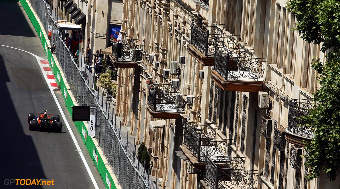 Baku City Circuit, Baku, Azerbaijan. Friday 23 June 2017. Stoffel Vandoorne, McLaren MCL32 Honda. Photo: Charles Coates/McLaren ref: Digital Image AX0W5603  Zak Mauger    f1 formula 1 formula one gp grand prix Action