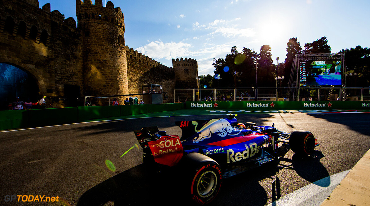 BAKU, AZERBAIJAN - JUNE 23:  Carlos Sainz of Scuderia Toro Rosso and Spain uring practice for the Azerbaijan Formula One Grand Prix at Baku City Circuit on June 23, 2017 in Baku, Azerbaijan.  (Photo by Peter Fox/Getty Images) // Getty Images / Red Bull Content Pool  // P-20170623-01776 // Usage for editorial use only // Please go to www.redbullcontentpool.com for further information. //  Azerbaijan F1 Grand Prix - Practice Peter Fox Baku Azerbaijan  P-20170623-01776