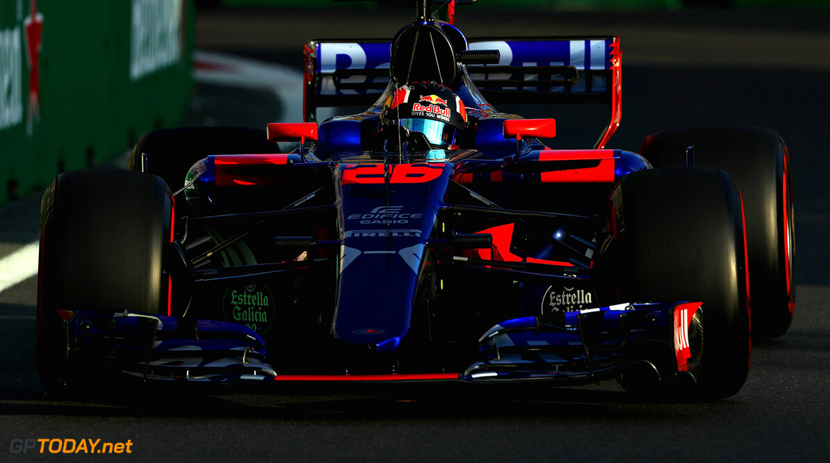 BAKU, AZERBAIJAN - JUNE 23: Daniil Kvyat of Russia driving the (26) Scuderia Toro Rosso STR12 on track during practice for the Azerbaijan Formula One Grand Prix at Baku City Circuit on June 23, 2017 in Baku, Azerbaijan.  (Photo by Mark Thompson/Getty Images) // Getty Images / Red Bull Content Pool  // P-20170623-01460 // Usage for editorial use only // Please go to www.redbullcontentpool.com for further information. //  Azerbaijan F1 Grand Prix - Practice Mark Thompson Baku Azerbaijan  P-20170623-01460