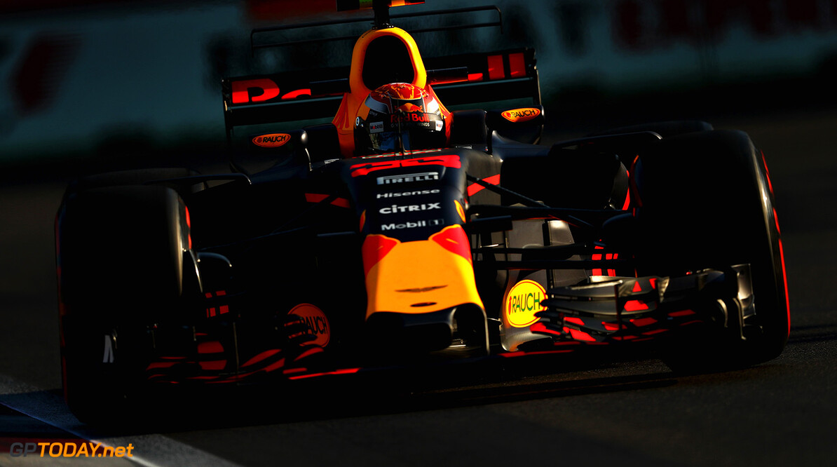 BAKU, AZERBAIJAN - JUNE 23: Max Verstappen of the Netherlands driving the (33) Red Bull Racing Red Bull-TAG Heuer RB13 TAG Heuer on track during practice for the Azerbaijan Formula One Grand Prix at Baku City Circuit on June 23, 2017 in Baku, Azerbaijan.  (Photo by Clive Rose/Getty Images) // Getty Images / Red Bull Content Pool  // P-20170623-01408 // Usage for editorial use only // Please go to www.redbullcontentpool.com for further information. //  Azerbaijan  F1 Grand Prix - Practice Clive Rose Baku Azerbaijan  P-20170623-01408