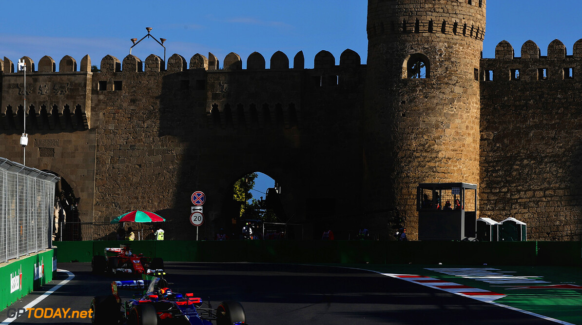 BAKU, AZERBAIJAN - JUNE 23: Carlos Sainz of Spain driving the (55) Scuderia Toro Rosso STR12 on track during practice for the Azerbaijan Formula One Grand Prix at Baku City Circuit on June 23, 2017 in Baku, Azerbaijan.  (Photo by Mark Thompson/Getty Images) // Getty Images / Red Bull Content Pool  // P-20170623-01521 // Usage for editorial use only // Please go to www.redbullcontentpool.com for further information. //  Azerbaijan F1 Grand Prix - Practice Mark Thompson Baku Azerbaijan  P-20170623-01521