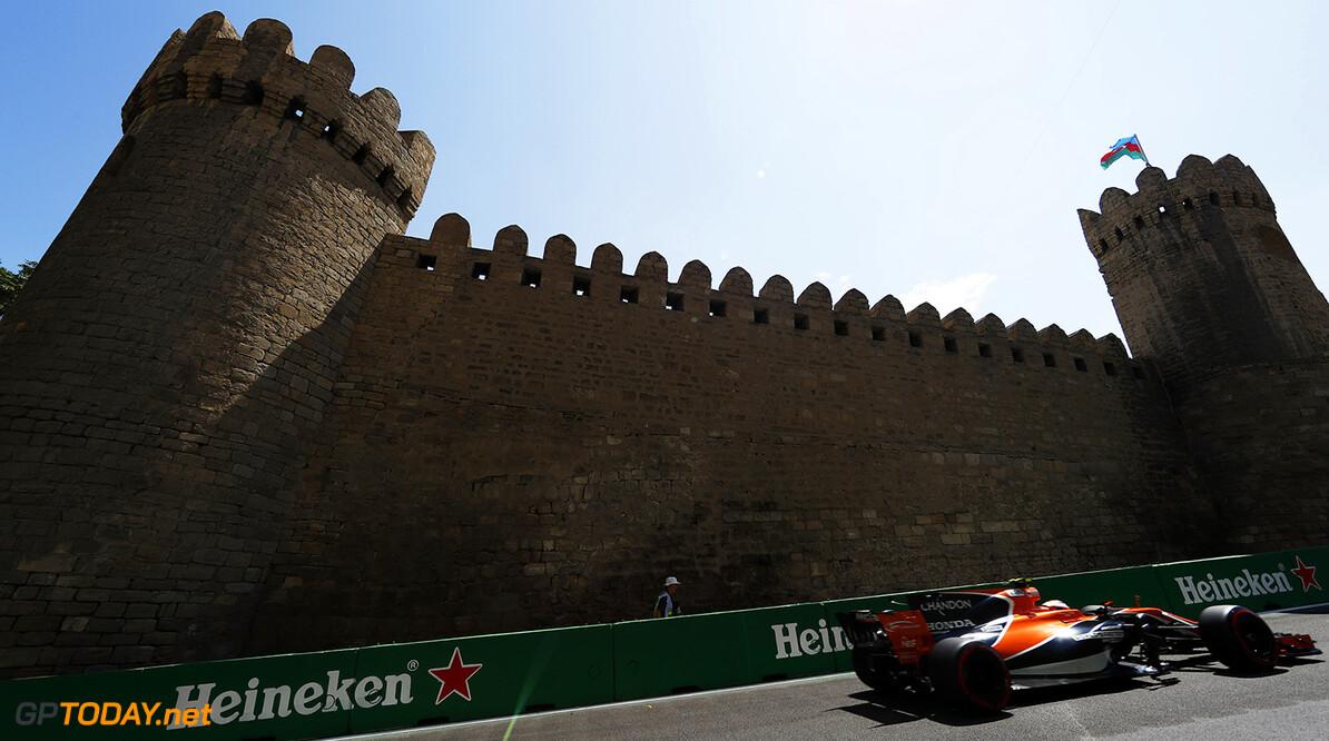 Baku City Circuit, Baku, Azerbaijan. Friday 23 June 2017. World Copyright: Glenn Dunbar/LAT Images ref: Digital Image _31I9394  Glenn Dunbar    f1 formula 1 formula one gp baku