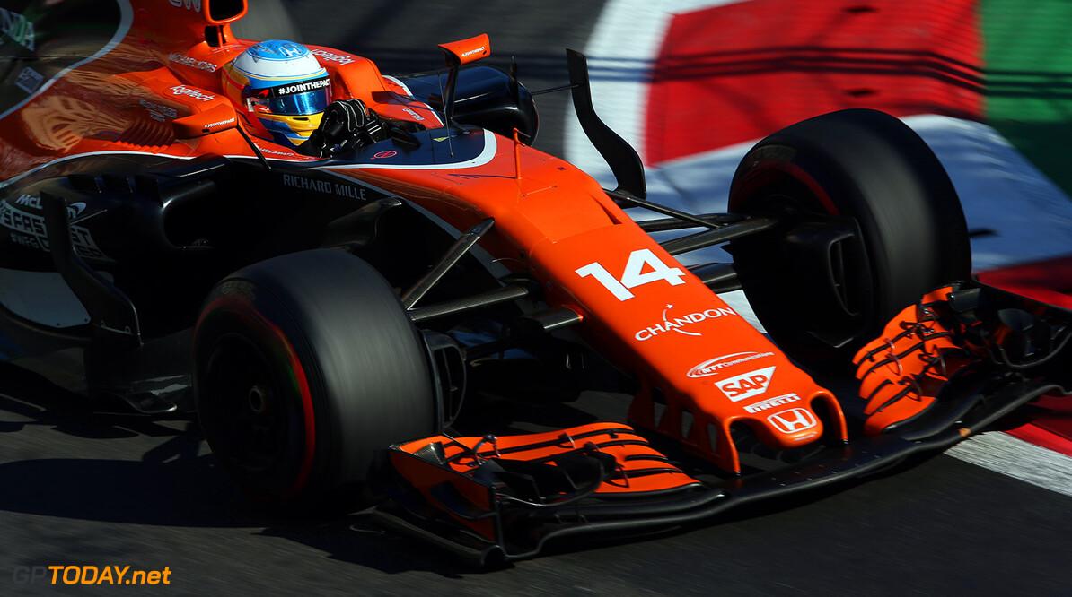 Baku City Circuit, Baku, Azerbaijan. Sunday 25 June 2017. Fernando Alonso, McLaren MCL32 Honda. Photo: Charles Coates/McLaren ref: Digital Image AX0W4095  Zak Mauger    f1 formula 1 formula one gp grand prix Action
