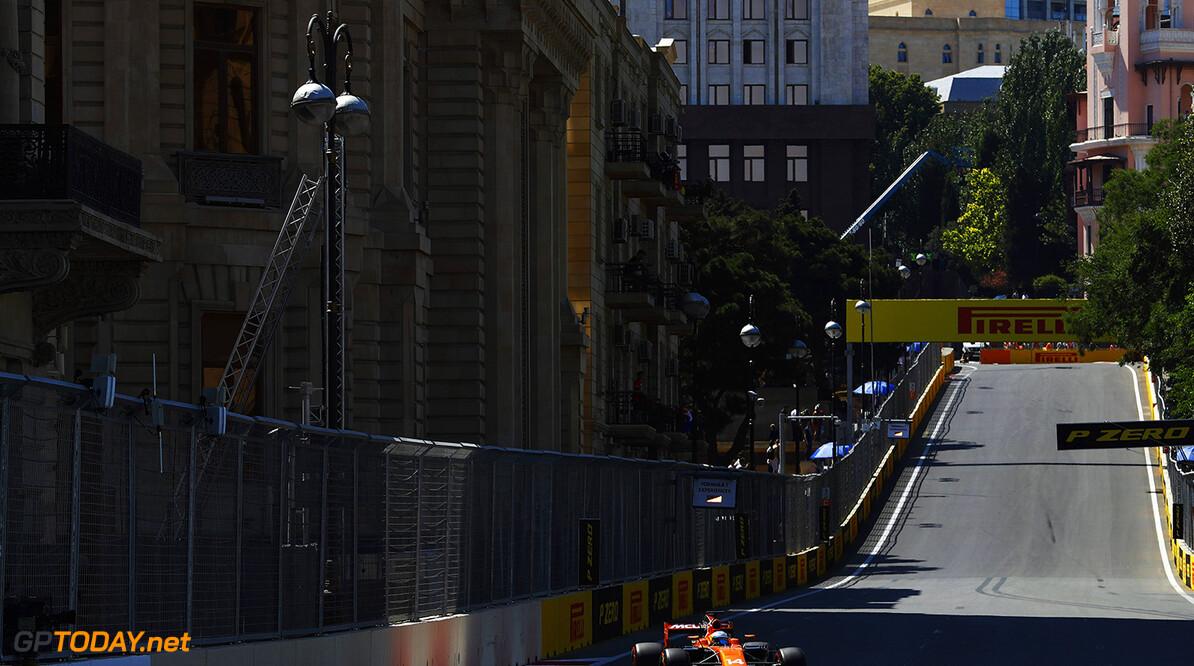 Baku City Circuit, Baku, Azerbaijan. Saturday 24 June 2017. Fernando Alonso, McLaren MCL32 Honda. Photo: Steven Tee/McLaren ref: Digital Image _R3I3075  Steven Tee    f1 formula 1 formula one gp grand prix Action