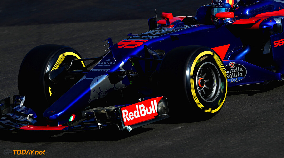 BAKU, AZERBAIJAN - JUNE 25: Carlos Sainz of Spain driving the (55) Scuderia Toro Rosso STR12 on track during the Azerbaijan Formula One Grand Prix at Baku City Circuit on June 25, 2017 in Baku, Azerbaijan.  (Photo by Mark Thompson/Getty Images) // Getty Images / Red Bull Content Pool  // P-20170625-01234 // Usage for editorial use only // Please go to www.redbullcontentpool.com for further information. //  Azerbaijan F1 Grand Prix Mark Thompson Baku Azerbaijan  P-20170625-01234