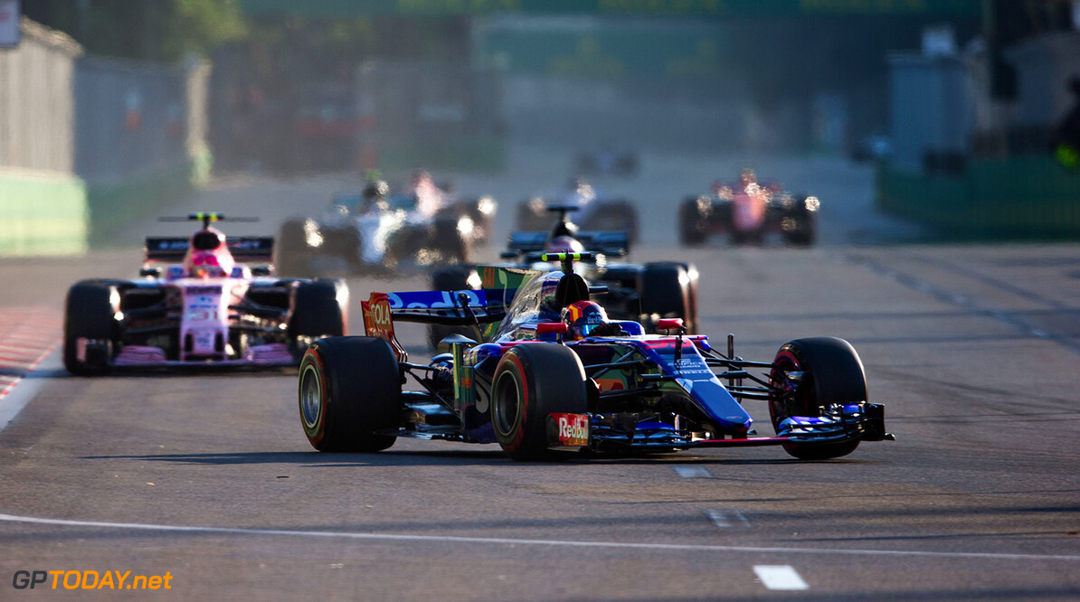 BAKU, AZERBAIJAN - JUNE 25:  Carlos Sainz of Scuderia Toro Rosso and Spain during the Azerbaijan Formula One Grand Prix at Baku City Circuit on June 25, 2017 in Baku, Azerbaijan.  (Photo by Peter Fox/Getty Images) // Getty Images / Red Bull Content Pool  // P-20170625-00989 // Usage for editorial use only // Please go to www.redbullcontentpool.com for further information. //  Azerbaijan F1 Grand Prix Peter Fox Baku Azerbaijan  P-20170625-00989