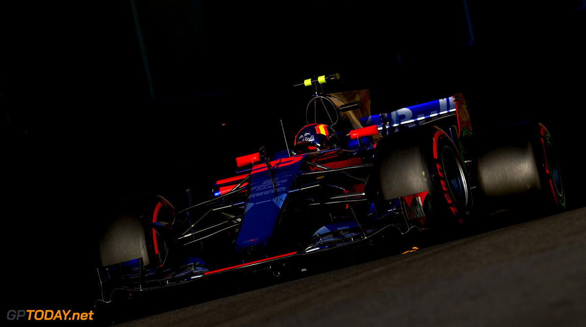 BAKU, AZERBAIJAN - JUNE 25: Carlos Sainz of Spain driving the (55) Scuderia Toro Rosso STR12 on track during the Azerbaijan Formula One Grand Prix at Baku City Circuit on June 25, 2017 in Baku, Azerbaijan.  (Photo by Clive Rose/Getty Images) // Getty Images / Red Bull Content Pool  // P-20170625-01015 // Usage for editorial use only // Please go to www.redbullcontentpool.com for further information. //  Azerbaijan F1 Grand Prix Clive Rose Baku Azerbaijan  P-20170625-01015