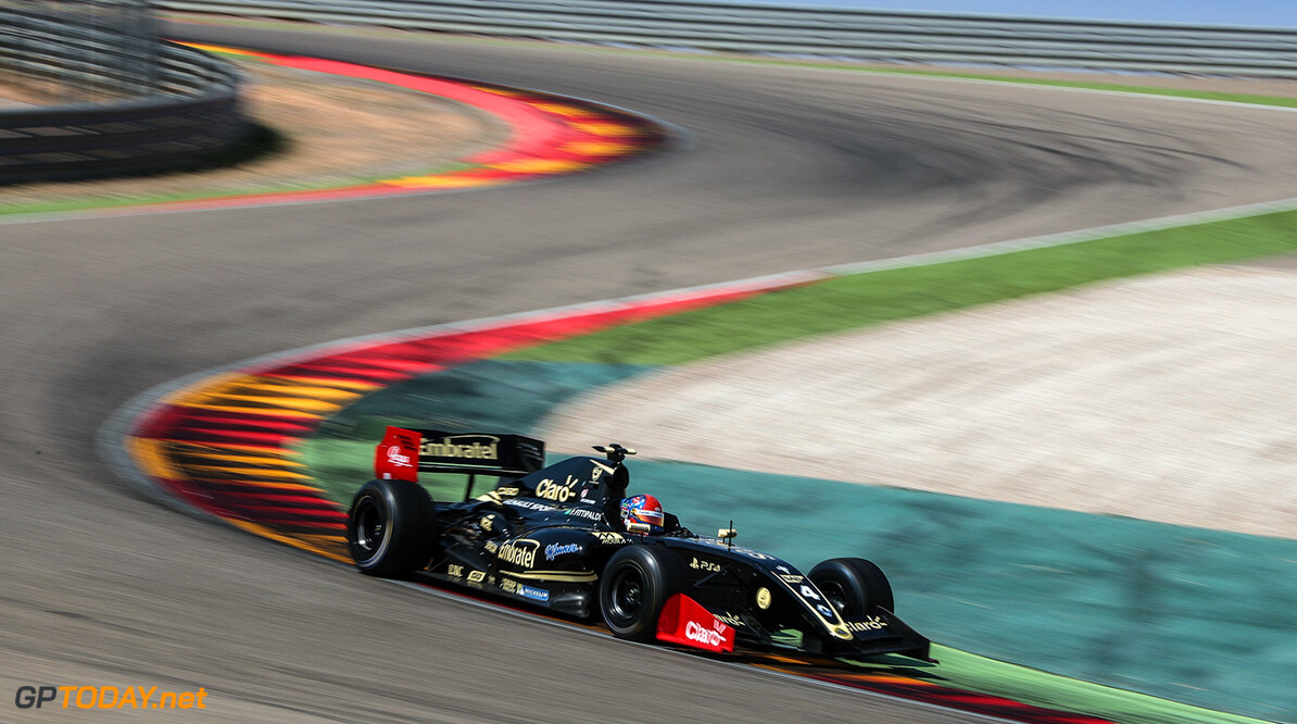 MOTORLAND-RACING-WSR ALCANIZ (ESP) June 23-25 2017 - World Series racing event at Circuito Motorland Aragon. Pietro Fittipaldi #4 Lotus. Action. (C) 2017 Diederik van der Laan  / Dutch Photo Agency  Diederik van der Laan Alcaniz Spain  Alcaniz Aragon Auto Autosport Car Circuit Formula Michelin Motorland Motorsports Race Racing Renault Track