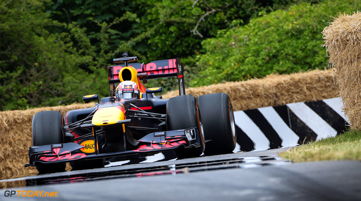CHICHESTER, ENGLAND - JULY 01:  Pierre Gasly of France and Red Bull Racing performs a run up the hill during the Goodwood Festival of Speed at Goodwood on July 1, 2017 in Chichester, England.  (Photo by James Bearne/Getty Images) // Getty Images / Red Bull Content Pool  // P-20170701-01288 // Usage for editorial use only // Please go to www.redbullcontentpool.com for further information. //  Goodwood Festival of Speed  Goodwood House United Kingdom  P-20170701-01288