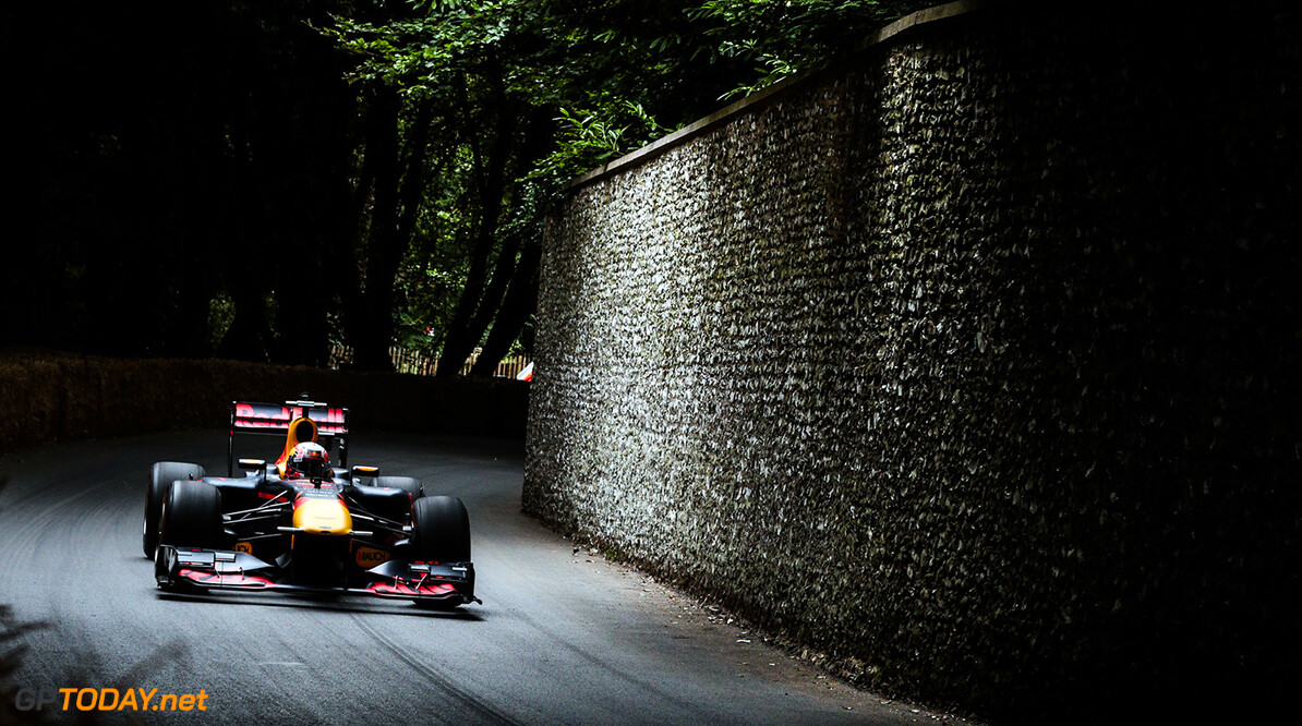CHICHESTER, ENGLAND - JULY 01:  Pierre Gasly of France and Red Bull Racing performs a run up the hill during the Goodwood Festival of Speed at Goodwood on July 1, 2017 in Chichester, England.  (Photo by James Bearne/Getty Images) // Getty Images / Red Bull Content Pool  // P-20170701-01276 // Usage for editorial use only // Please go to www.redbullcontentpool.com for further information. //  Goodwood Festival of Speed  Goodwood House United Kingdom  P-20170701-01276