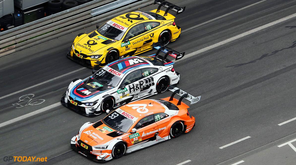 #53 Jamie Green, Audi RS5 DTM, #31 Tom Blomqvist, BMW M4 DTM, #16 Timo Glock, BMW M4 DTM