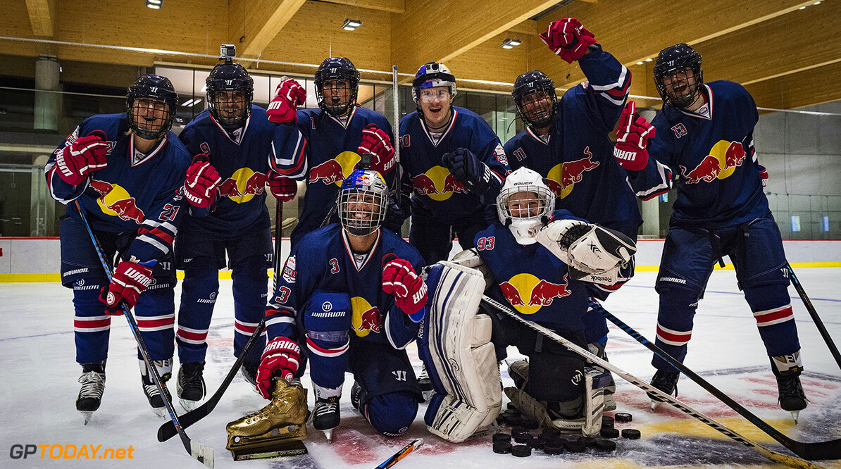 Team Daniel celebrate their victory Red Bull Puck Off, in Salzburg, Austria on July 5th, 2017. // Markus Berger / Red Bull Content Pool // P-20170705-01075 // Usage for editorial use only // Please go to www.redbullcontentpool.com for further information. //  Team Daniel Markus Berger Salzburg Austria  P-20170705-01075