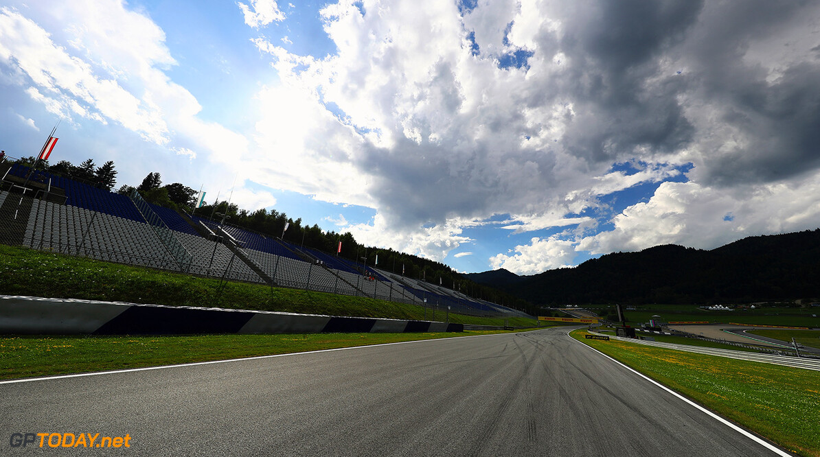 SPIELBERG, AUSTRIA - JULY 06:  A general view of the circuit during previews ahead of the home race of Red Bull Racing and Formula One Grand Prix of Austria at Red Bull Ring on July 6, 2017 in Spielberg, Austria.  (Photo by Clive Mason/Getty Images) // Getty Images / Red Bull Content Pool  // P-20170706-02698 // Usage for editorial use only // Please go to www.redbullcontentpool.com for further information. //  F1 Grand Prix of Austria - Previews Clive Mason Red Bull Ring Austria  P-20170706-02698