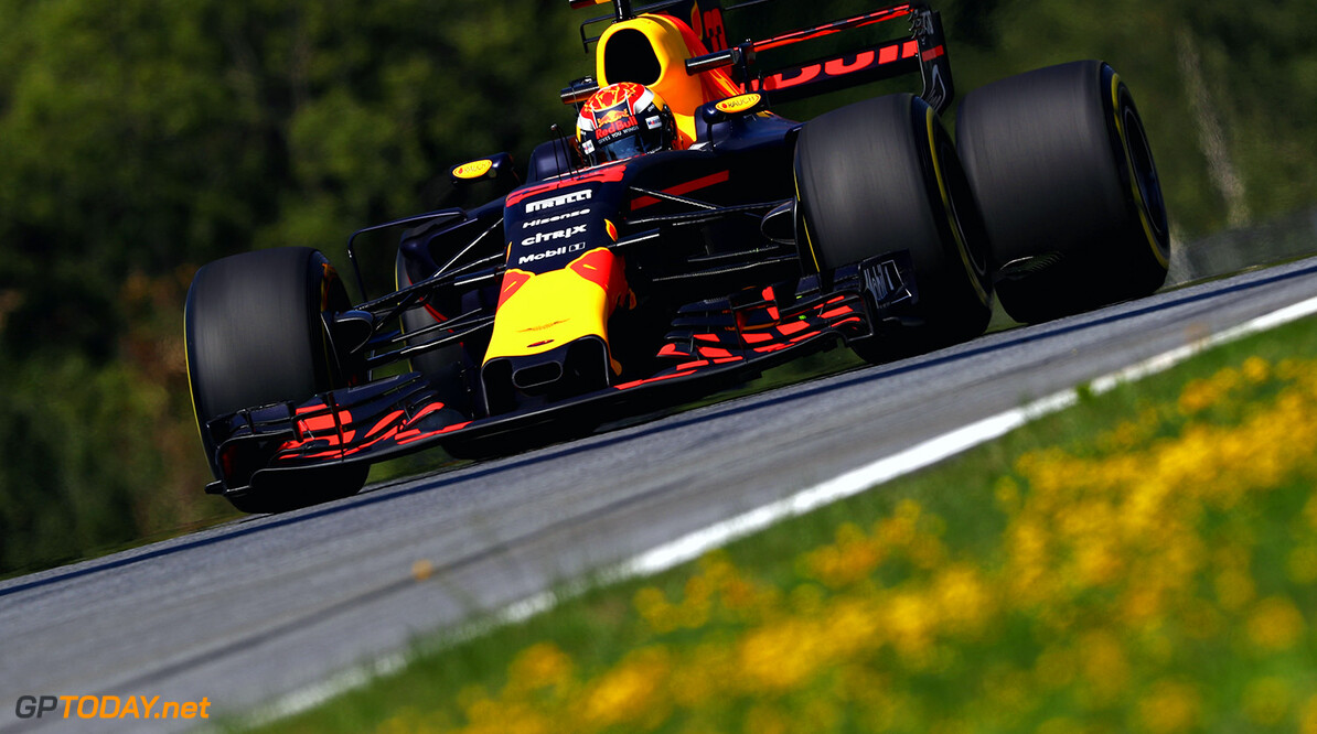 SPIELBERG, AUSTRIA - JULY 07:  Max Verstappen of the Netherlands driving the (33) Red Bull Racing Red Bull-TAG Heuer RB13 TAG Heuer on track during practice for the Formula One Grand Prix of Austria at Red Bull Ring on July 7, 2017 in Spielberg, Austria.  (Photo by Clive Mason/Getty Images) // Getty Images / Red Bull Content Pool  // P-20170707-00377 // Usage for editorial use only // Please go to www.redbullcontentpool.com for further information. //  F1 Grand Prix of Austria - Practice Clive Mason Red Bull Ring Austria  P-20170707-00377