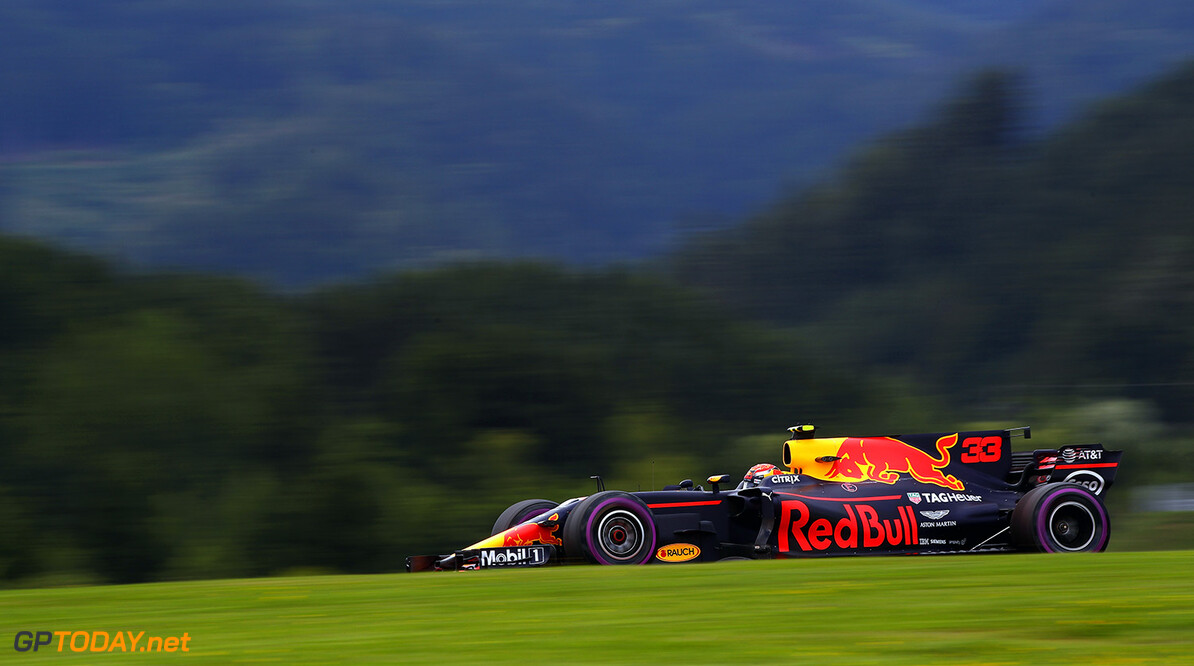 SPIELBERG, AUSTRIA - JULY 07: Max Verstappen of the Netherlands driving the (33) Red Bull Racing Red Bull-TAG Heuer RB13 TAG Heuer on track during practice for the Formula One Grand Prix of Austria at Red Bull Ring on July 7, 2017 in Spielberg, Austria.  (Photo by Clive Mason/Getty Images) // Getty Images / Red Bull Content Pool  // P-20170707-02858 // Usage for editorial use only // Please go to www.redbullcontentpool.com for further information. //  F1 Grand Prix of Austria - Practice Clive Mason Red Bull Ring Austria  P-20170707-02858