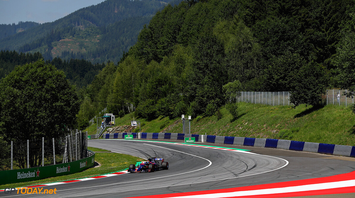 SPIELBERG, AUSTRIA - JULY 07: Carlos Sainz of Spain driving the (55) Scuderia Toro Rosso STR12 on track during practice for the Formula One Grand Prix of Austria at Red Bull Ring on July 7, 2017 in Spielberg, Austria.  (Photo by Mark Thompson/Getty Images) // Getty Images / Red Bull Content Pool  // P-20170707-02185 // Usage for editorial use only // Please go to www.redbullcontentpool.com for further information. //  F1 Grand Prix of Austria - Practice Mark Thompson Red Bull Ring Austria  P-20170707-02185