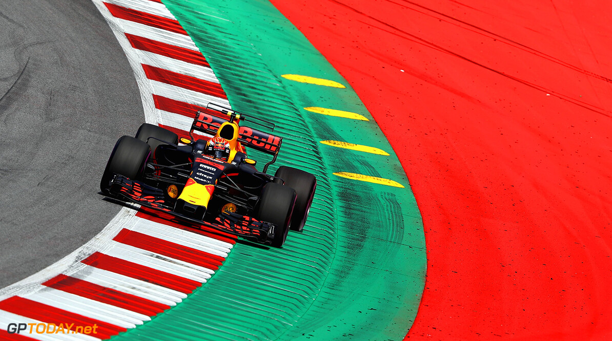 SPIELBERG, AUSTRIA - JULY 07: Max Verstappen of the Netherlands driving the (33) Red Bull Racing Red Bull-TAG Heuer RB13 TAG Heuer on track during practice for the Formula One Grand Prix of Austria at Red Bull Ring on July 7, 2017 in Spielberg, Austria.  (Photo by Mark Thompson/Getty Images) // Getty Images / Red Bull Content Pool  // P-20170707-02864 // Usage for editorial use only // Please go to www.redbullcontentpool.com for further information. //  F1 Grand Prix of Austria - Practice Mark Thompson Red Bull Ring Austria  P-20170707-02864