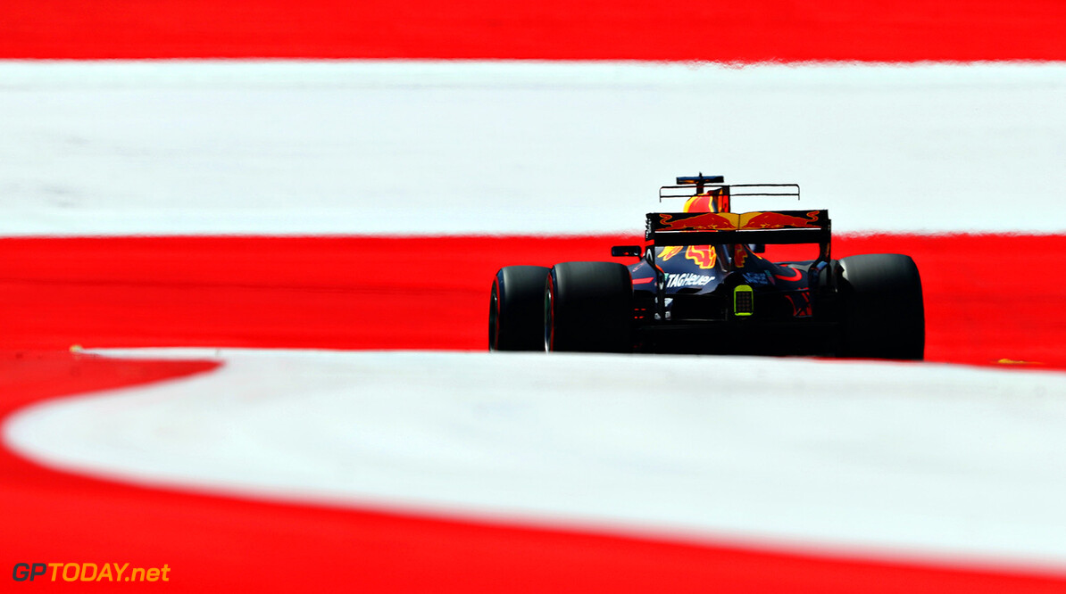 SPIELBERG, AUSTRIA - JULY 07:  Daniel Ricciardo of Australia driving the (3) Red Bull Racing Red Bull-TAG Heuer RB13 TAG Heuer on track during practice for the Formula One Grand Prix of Austria at Red Bull Ring on July 7, 2017 in Spielberg, Austria.  (Photo by Mark Thompson/Getty Images) // Getty Images / Red Bull Content Pool  // P-20170707-01214 // Usage for editorial use only // Please go to www.redbullcontentpool.com for further information. //  F1 Grand Prix of Austria - Practice Mark Thompson Red Bull Ring Austria  P-20170707-01214