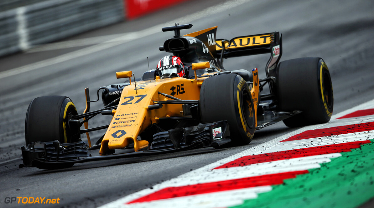 Formula One World Championship Nico Hulkenberg (GER) Renault Sport F1 Team RS17. Austrian Grand Prix, Sunday 9th July 2017. Spielberg, Austria. Motor Racing - Formula One World Championship - Austrian Grand Prix - Race Day - Spielberg, Austria Renault Sport Formula One Team Spielberg Austria  Formula One Formula 1 F1 GP Grand Prix Circuit Austria Austrian Spielberg Zeltweg JM731 Hulkenberg H?lkenberg Huelkenberg Action Track GP1709d