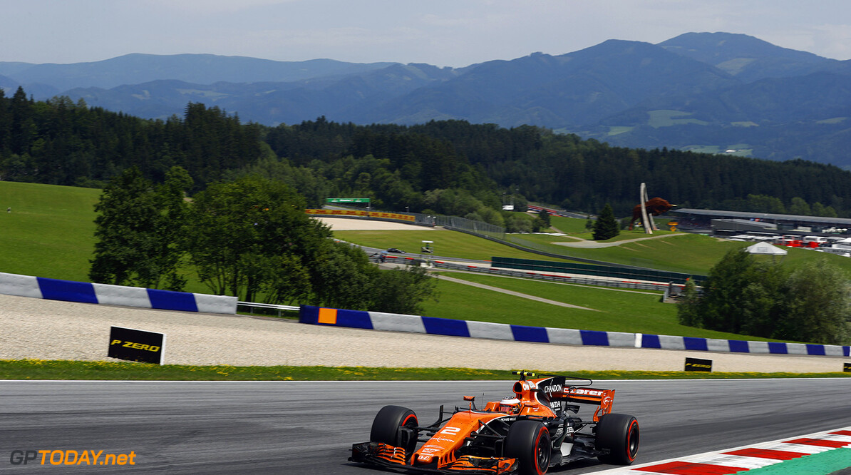 Red Bull Ring, Spielberg, Austria. Sunday 9 July 2017. Stoffel Vandoorne, McLaren MCL32 Honda. Photo: Steven Tee/McLaren ref: Digital Image _R3I7962  Steven Tee    f1 formula 1 formula one gp grand prix Action