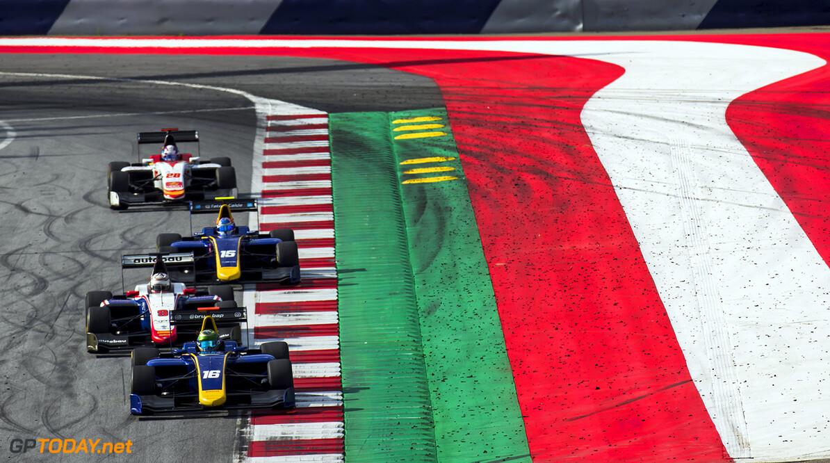 2017 GP3 Series Round 2.  Red Bull Ring, Spielberg, Austria. Saturday 8 July 2017.Bruno Baptista (BRA, DAMS).  Photo: Zak Mauger/GP3 Series Media Service. ref: Digital Image _54I8783   Zak Mauger    Race One 1 action