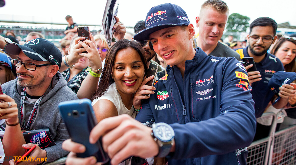NORTHAMPTON, ENGLAND - JULY 13:  Max Verstappen of Red Bull Racing and The Netherlands during previews ahead of the Formula One Grand Prix of Great Britain at Silverstone on July 13, 2017 in Northampton, England.  (Photo by Peter Fox/Getty Images) // Getty Images / Red Bull Content Pool  // P-20170713-01233 // Usage for editorial use only // Please go to www.redbullcontentpool.com for further information. //  F1 Grand Prix of Great Britain - Previews Peter Fox Silverstone United Kingdom  P-20170713-01233