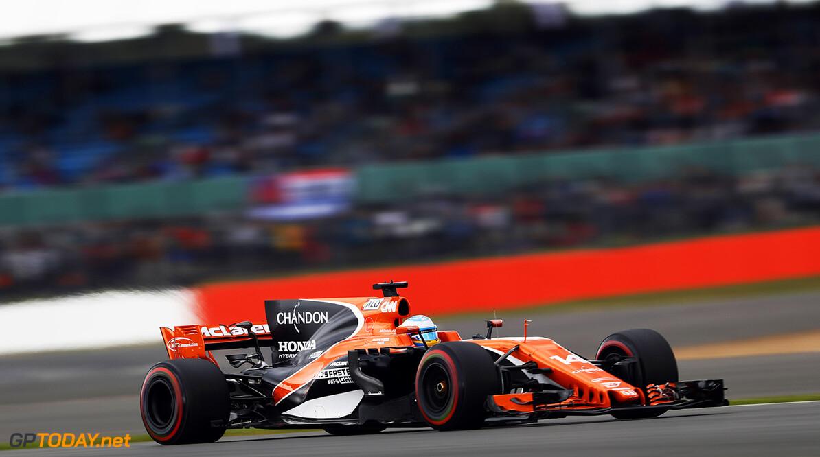 Silverstone, Northamptonshire, UK. Friday 14 July 2017. Fernando Alonso, McLaren MCL32 Honda. Photo: Glenn Dunbar/McLaren ref: Digital Image _X4I3373  Glenn Dunbar    f1 formula 1 formula one gp grand prix Action