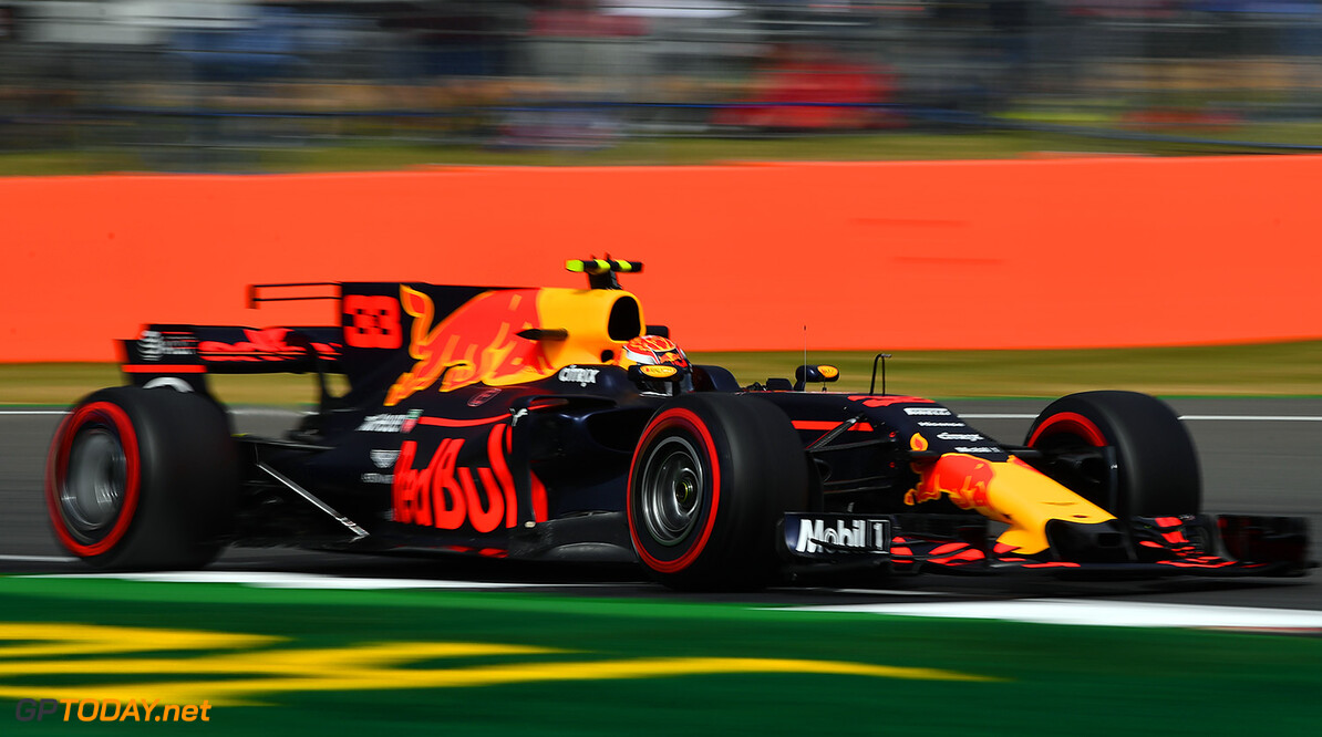 NORTHAMPTON, ENGLAND - JULY 14: Max Verstappen of the Netherlands driving the (33) Red Bull Racing Red Bull-TAG Heuer RB13 TAG Heuer on track during practice for the Formula One Grand Prix of Great Britain at Silverstone on July 14, 2017 in Northampton, England.  (Photo by Dan Mullan/Getty Images) // Getty Images / Red Bull Content Pool  // P-20170714-00631 // Usage for editorial use only // Please go to www.redbullcontentpool.com for further information. //  F1 Grand Prix of Great Britain - Practice Dan Mullan Silverstone United Kingdom  P-20170714-00631