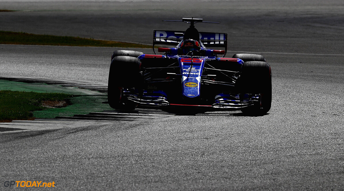 NORTHAMPTON, ENGLAND - JULY 14: Daniil Kvyat of Russia driving the (26) Scuderia Toro Rosso STR12 on track during practice for the Formula One Grand Prix of Great Britain at Silverstone on July 14, 2017 in Northampton, England.  (Photo by Clive Mason/Getty Images) // Getty Images / Red Bull Content Pool  // P-20170714-00649 // Usage for editorial use only // Please go to www.redbullcontentpool.com for further information. //  F1 Grand Prix of Great Britain - Practice Clive Mason Silverstone United Kingdom  P-20170714-00649