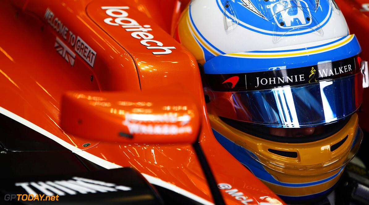 Silverstone, Northamptonshire, UK. Friday 14 July 2017. Fernando Alonso, McLaren. Photo: Andrew Hone/McLaren ref: Digital Image _ONY5736      f1 formula 1 formula one gp grand prix Portrait Helmets