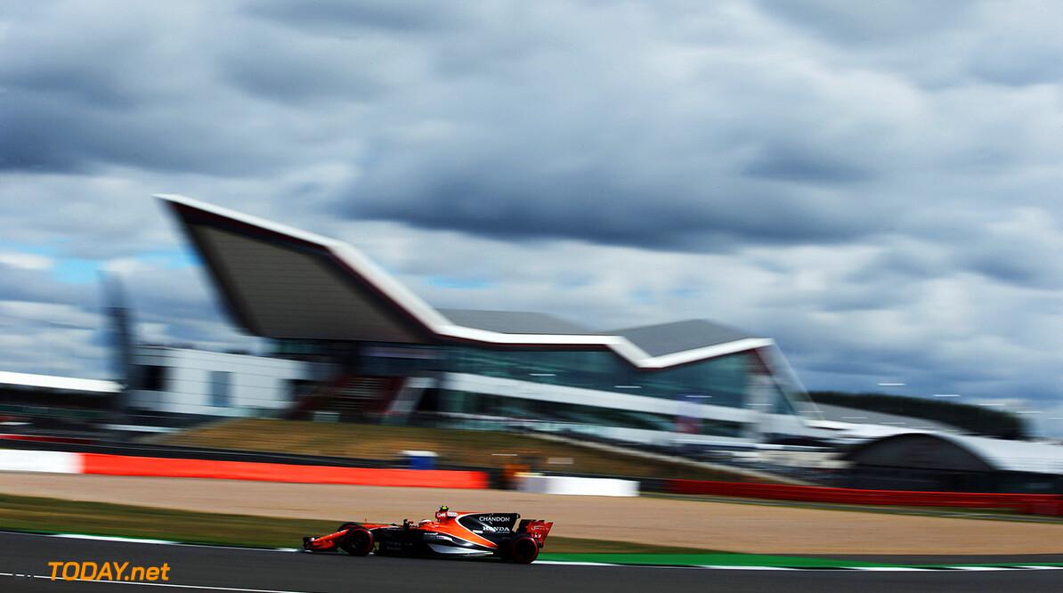 Silverstone, Northamptonshire, UK. Friday 14 July 2017. Stoffel Vandoorne, McLaren MCL32 Honda. Photo: Charles Coates/McLaren ref: Digital Image AN7T4593      f1 formula 1 formula one gp grand prix Action
