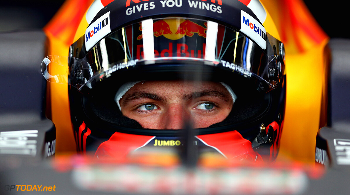 NORTHAMPTON, ENGLAND - JULY 14: Max Verstappen of Netherlands and Red Bull Racing prepares to drive in the garage during practice for the Formula One Grand Prix of Great Britain at Silverstone on July 14, 2017 in Northampton, England.  (Photo by Clive Mason/Getty Images) // Getty Images / Red Bull Content Pool  // P-20170714-01203 // Usage for editorial use only // Please go to www.redbullcontentpool.com for further information. //  F1 Grand Prix of Great Britain - Practice Clive Mason Silverstone United Kingdom  P-20170714-01203