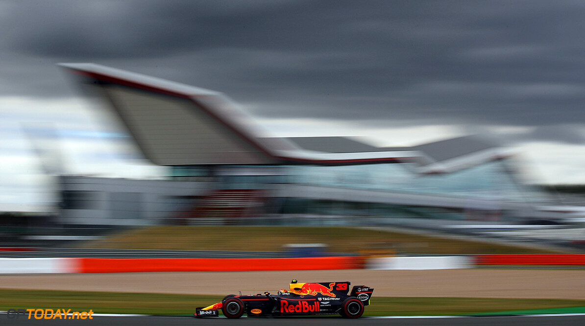 NORTHAMPTON, ENGLAND - JULY 14: Max Verstappen of the Netherlands driving the (33) Red Bull Racing Red Bull-TAG Heuer RB13 TAG Heuer on track during practice for the Formula One Grand Prix of Great Britain at Silverstone on July 14, 2017 in Northampton, England.  (Photo by Clive Mason/Getty Images) // Getty Images / Red Bull Content Pool  // P-20170714-00661 // Usage for editorial use only // Please go to www.redbullcontentpool.com for further information. //  F1 Grand Prix of Great Britain - Practice Clive Mason Silverstone United Kingdom  P-20170714-00661